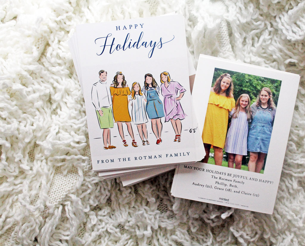holiday cards | polka dots and picket fences