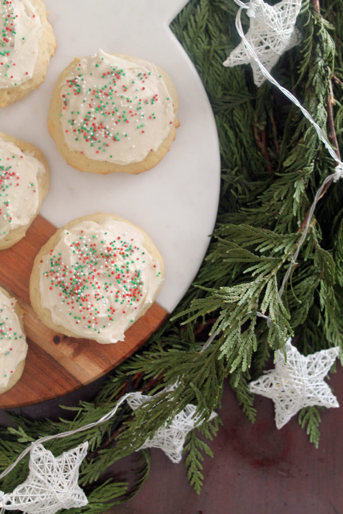 sour cream cookies   polka dots and picket fences